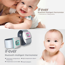 iFever Bluetooth Children Thermometer Smart Wearable Thermometer 24 Hrs Monitoring Alert History Records