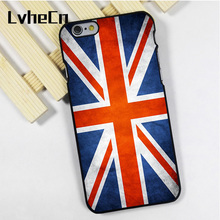 LvheCn phone case cover fit for iPhone 4 4s 5 5s 5c SE 6 6s 7 8 plus X ipod touch 4 5 6 Great Britain GB British Flag ENGLAND(China)