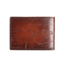 TERSE_Wholesale price handmade genuine leather id card holder men credit card wallet luxury engraving license card holder OEM
