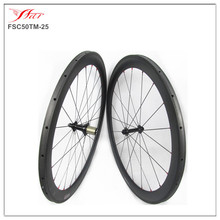 Super light carbon tubular wheels 50mm deep x 25mm wide with Bitex hub Farsports competitive wheels Low price + good quality(China)