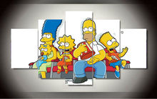 Framed Printed Cartoon simpsons Group Painting wall art children's room decor print poster picture canvas Free shipping F/1063