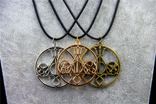 ZRM Items Gold Necklace & Pendants The Mortal Instruments Hunger Games Divergent Percy Jackson HP For collection(China)