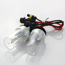 Pair H3 3000K Auto Car Xenon HID Bulbs Replacement Conversion Kit Single Xenon Light Golden Headlamp 35W #2892*2(China)