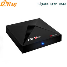 With 1 Year ip tv account European Arabic Spain Turkish NL UK Italy IPTV code APK m3u A5X MAX android tv box Set Top Box