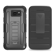 Phone Cases for Samsung Galaxy S7 S3 S4 S5 S6 S6 Edge Plus S6 Active S7 Active Case Plastic Armor Stand Belt Clip Holster Cover