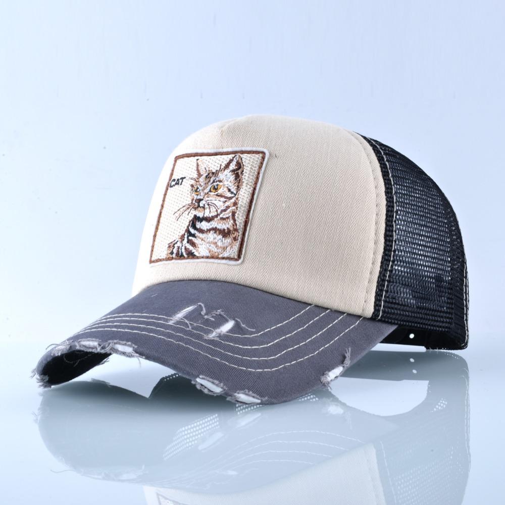 Fashion Unisex Patch Bones Wolf Embroidery Hip Hop Hats Breathable Mesh Baseball Caps Men Women Casquette Summer Trucker Gorras 7