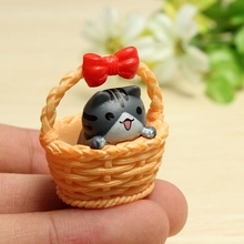 Small Phone Straps Cute Basket Cat Shaped Soft Toy Stress Reliever Cartoon Simulation Cellphone Charm Pendant Decor Ornament