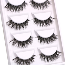 30 Pairs/lot Natural Long False Eyelashes Thick Cross Makeup Beauty Fake Eyelashes Strip Fake Eye Lashes Extension Tools(China)