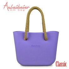 150d6b8fe60b ANLAIBEIER Obag O Bag Style Waterproof EVA Big Classic AMbag DIY Women s Bags  Handbag with Lining Insert Rope Hemp Handles