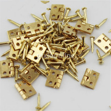20pcs/lot J041 Brass Hinges with Nail Make Small Wooden Box Free Shipping Russia