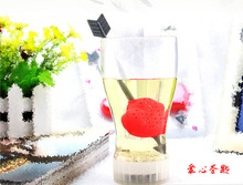 1pcs New PP material Heart Love Tea Bags Strainers Teaspoon Herbal Spice Infuser Filter Strainer Drinkware(China)