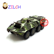 1:43 ETI Russian military Wheeled armored vehicle tank alloy model in original box pull back muical flashing toy for children(China)