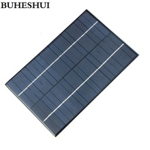 BUHESHUI 4.2W 18V Polycrystalline Solar Cells Solar Panels Solar Module For Charging 12V Battery DIY Solar System 200*130MM