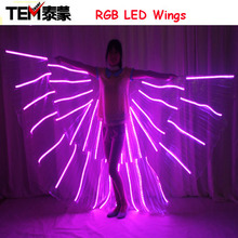 New 2016 Fashion RGB LED wings Costume/ LED Dance Performance / LED Bdancing Wings DJ Wing Girls Dance Costumes Light Up Wings