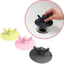 Silicone Lovely Character model Floor Drain Hair Stopper Hand Sink Plug Bath Catcher Sink Strainer Cover Tool