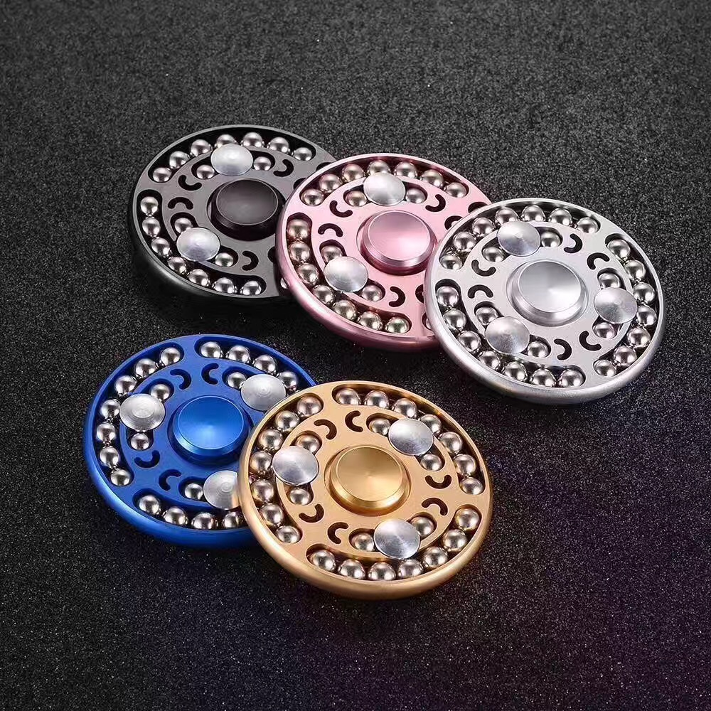 5 Colors EDC Fidget Spinner hand UFO Tri-spinner Hand Spinner Aluminum Alloy Fidget Toy Anxiety Stress Adults Kid Metal Spiner