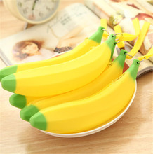 50 pcs novelty banana pencil case kawaii pencil bag rubber coin purse estuches school supplies stationery