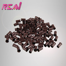 10000pcs 3.5X3.0X6.0mm Flare Euro Lock Copper Tubes Micro Beads Links Rings for Stick I tip Hair Extensions 5 Colors