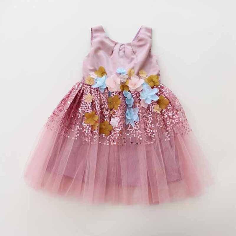 New Children Baby High Quality Sequined mesh Party Dresses, Toddler Girls Princess Flower Bridemaids Dress<br><br>Aliexpress