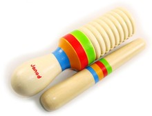 candice guo! Funny baby wooden toy instrument sound tube straight early childhood music 2pcs/set