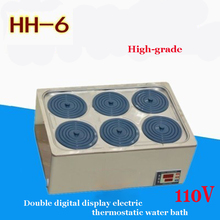 Buy 1PC High-grade HH-6 double digital display electric thermostatic water bath 304 stainless steel Material 110V for $154.28 in AliExpress store