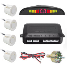 Car Parking Sensor Auto Led Display 4 Sensors Reverse Backup Car Parking Detector Radar Monitor System(China)