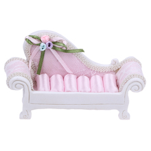 Mini Creative Resin Sofa Wedding Home Ornaments Ring Jewelry Photo Prop Pink Sofa miniatures wedding decoration Table Decor(China)