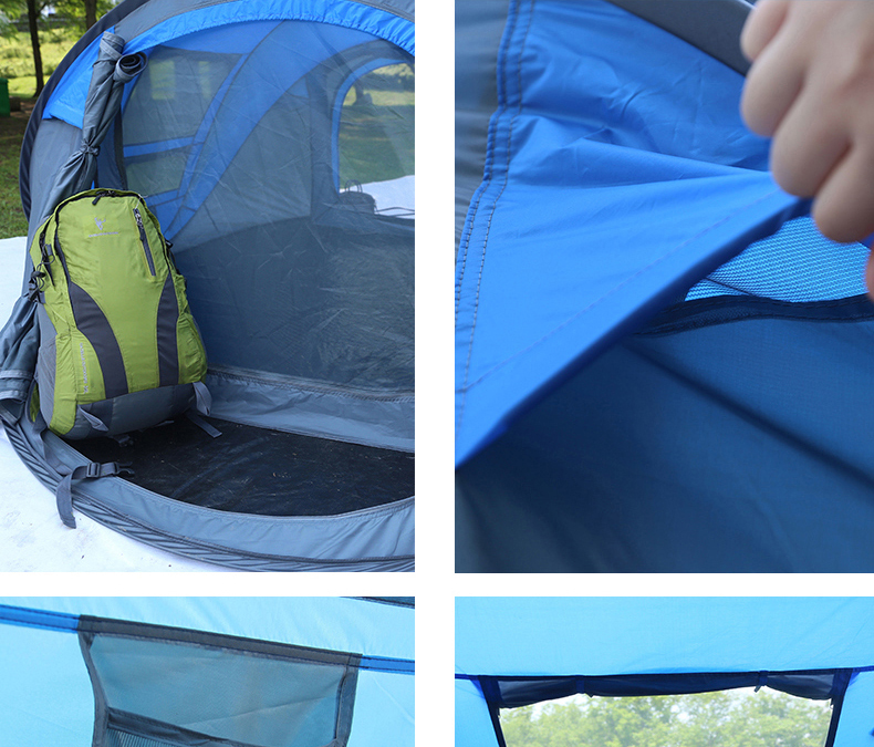 HYL camping pop up tent large 3-4 person windproof (14)