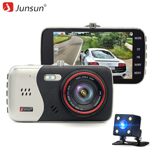 Junsun Dash Cam Car DVR Camera Full HD 1080P Dual Lens Video Recorder Parking Monitor Rear view Auto Camera Motion Detection(China)