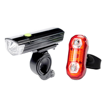 Waterproof Bicycle LED Front Light + Warning Rear Lamp Set Shockproof Mountain Bike Light Lamp Cycling Safety Lighting Sets(China)