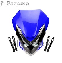 Street Fighter Motorcycle LED Vision Headlight Blue Dirt Bike Headlamp Front Lighting for Yamaha WR XT 660R 660X YZ YZF DT WRF