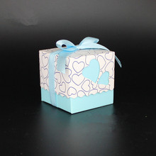 100pcs Sweet Heart Wedding Favors Box Baby Shower Souvenirs Baptism Party Gift Celebration Decoration DIY Candy Holder