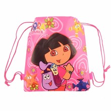 12pic Dora school bags kids cartoon backpack drawstring bag & infantile For children bag back to school mochila news 2016