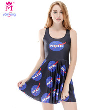 Fashion New Arrival Dresse space Logo Big Swing Umbrella  Significant Breathable Dresses   2083
