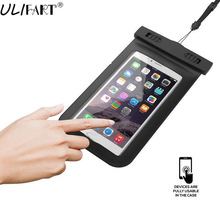 ULIFART New Waterproof Underwater Pouch Dry Bag Case Cover For Small Tablet iPhone Samsung Phone Touchscreen Swimming Boating