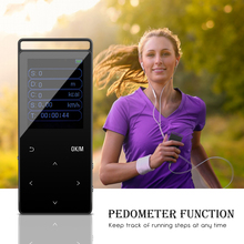 16G Bluetooth HiFi Digital MP3 Music Player 50 Hours Audio Playback Support up to 64GB Lossless Recorder FM Pedometer for Iphone(China)