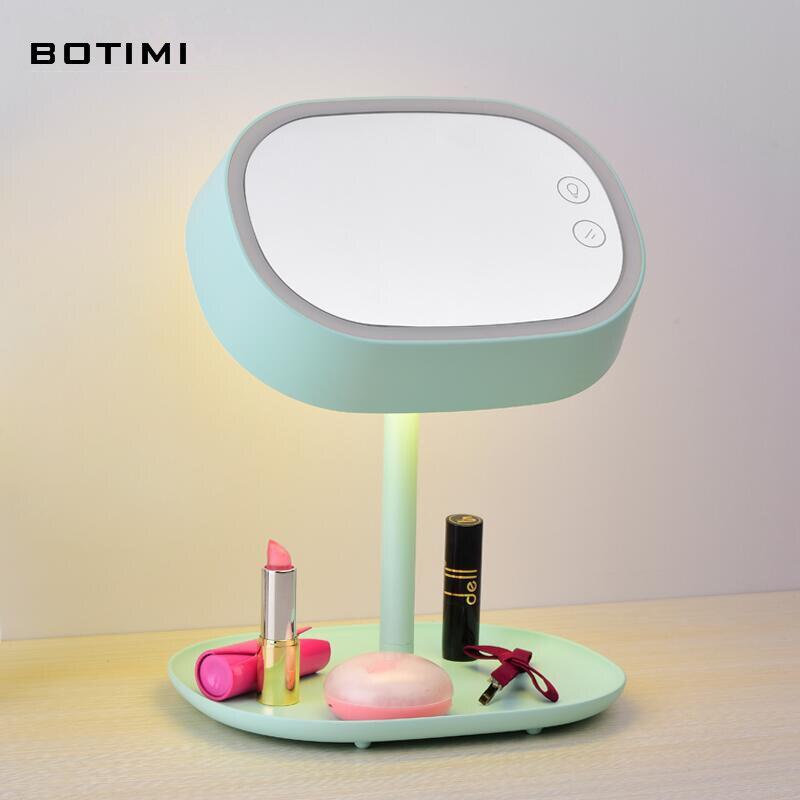 BOTIMI Modern dress up LED table lamp abajur de mesa lamparas mirror desk lamp for bedroom dressing room lighting fixture <br><br>Aliexpress