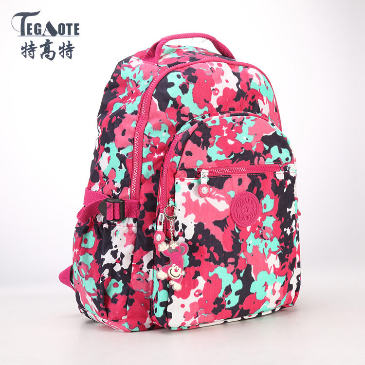 Canvas Printing Backpack Women School Backpacks Bag for