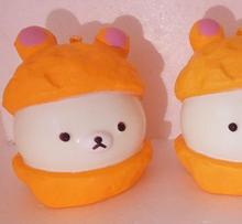 9cm kawaii squishy  rare squishy charms orange color bread slow rising Cell Phone Straps cheap wholesale 20pcs