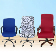 Elastic Computer Chair Cover Spandex Office Chair Cover Dining Chair Washable Removable Rotating Chair Cover(China)