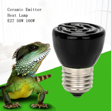 iTimo Best Price Black E27 50W 100W Mini Infrared Ceramic Emitter Heat Light Lamp Bulb For Reptile Pet Brooder 110V/220V(China)