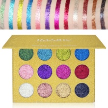 Glitter Powder Makeup Palette Long Lasting&Shimmer Eyeshadow Palette Eyes Makeup Glitter Highly Pigmented Glitter Eye Shadow