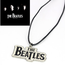 The Beatles Necklace Rock Music Pendant Necklace For Man Fans Fake Leather Necklace Anime Erkek Bayan Kolye Punk Collane Donna 5