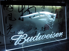 LD298- New England Patriots Budweiser LED Neon Light Sign home decor crafts(China)