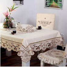211#  square Table Clothes hot sale embroidery house design tablecloth table mat table cover wholesale
