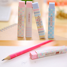 1PC Stripe Colourful Rubber Erasers Office Stationery Gift For Student