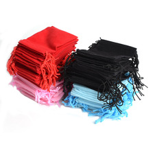 Free Shipping 100Pcs Mix Color 5x7cm Velvet Bag/Jewelry Bag/Velvet pouch for wedding birthday party