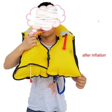 Manual hand inflatable life jacket quick inflate fishing buoy life vest diving boat vessel yacht floatation jacket  car washer