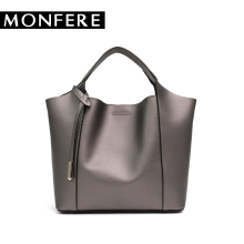 Buy MONFERE SPLIT LEATHER TOP-HANDLE bags cow leather tote casual bucket women messenger bags desigual high ladies handbags for $44.25 in AliExpress store