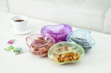 1PCS Multifunctional Circular Plastic Double Deck Snacks Food Storage Box Dual Purpose Tabletop Grocerie Storage Boxes Organizer